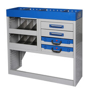 Vehicle equipment module MIDI drawer for medium-sized transporters