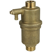 "Brass solar air separator 3/4"" ET both sides with draining"