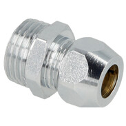 """Straight screw connection one compr. fit 1/2"""" x 10 mm, chrome-plated"""