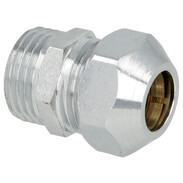 """Straight screw connection one compr. fit 1/2"""" x 12 mm, chrome-plated"""