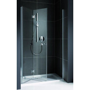 Folding-door shower for recess Koralle myDay NPFA 900 mm TSG hinged left