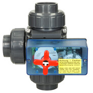Three-way ball valve Solar PVC Ø 50 mm with electric actuator 230 V
