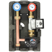Heating circuit set mixed circuit with fixed setpoint controller and pump