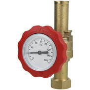"""Ball valve with thermometer red 3/4"""" 3/4"""" 512245184"""