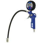 Digital tyre pressure and filling gauge with hose and connector 350040010