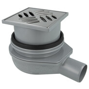 Floor drain The Ultra-flat DN50 with slotted cover