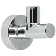 "Design angle valve 1/2"" self-sealing, chrome, w. CF + rosette"