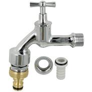 "Tap valve 1/2"" polished, chrome-plated Pipe ventilation, non-return valve"