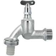 """Draw-off tap with bleed key 3/4"""" with hose screw connection chrome-plated"""