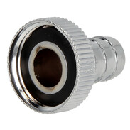 "Hose screw connection 3/4"" ET x 1/2"" hose tail chrome-plated plastic"