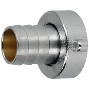 """Hose screw connection 1""""IT x 3/4"""" chrome-plated brass"""
