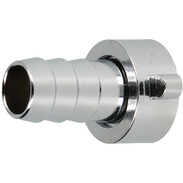 """Hose screw connection 1/2""""IT x 1/2"""" chrome-plated brass"""