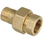 """Union IT/ET 3/4"""" straight tapered sealing brass bright"""