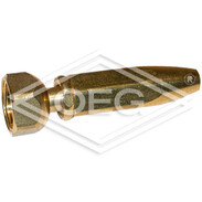 """Brass spray nozzle (model SWISS) 3/4"""" IT, hexagon nut and seal"""