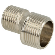 "S-connection ET/ET  3/4"" x 1/2"" nickel-plated brass"