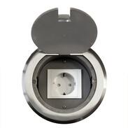 Socket outlet aluminium cast 1 shockproof socket