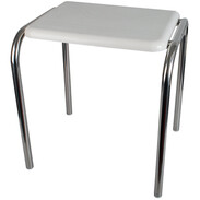 Shower stool,stainless steel,500 mm high plastic seat, 120 kg, 415x360mm,polished