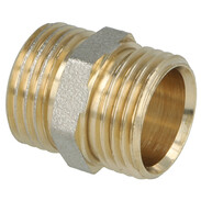 """Coupling brass nickel-plated on the outside 1/2"""" ET"""