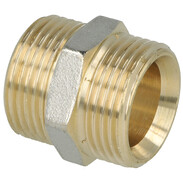 """Coupling brass nickel-plated on the outside 3/4"""" ET euro cone"""