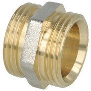 """Coupling brass nickel-plated on the outside 1"""" ET"""