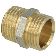 """Coupling brass nickel-plated on the outside 1/2'' ET x 1/2"""" ET euro cone"""