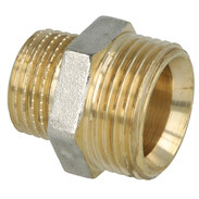 Coupling brass nickel-plated on the outside 3/4'' ET euro cone x 1/2'' ET