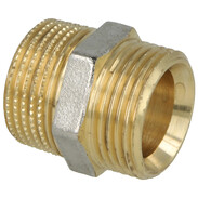 """Coupling brass nickel-plated on the outside 3/4""""' ET euro ocone x 3/4'' ET"""