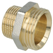 Coupling brass nickel-plated on the outside 1'' ET euro cone x 3/4'' ET