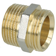 Coupling brass nickel-plated on the outside 1'' ET euro cone x 1'' ET
