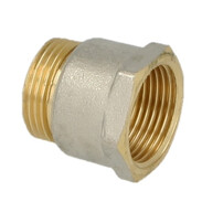 """Coupling brass nickel-plated on the outside 1"""" ET euro cone x 1"""" IT"""