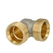 """Elbow coupling brass nickel-plated on the outside 1/2"""" ET euro cone"""
