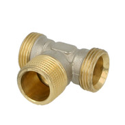 """Tee brass nickel-plated on the outside 1"""" ET euro cone x 3/4"""" ET x 1"""" ET euro cone"""