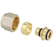 "Compression fitting brass 16 mm x 2 x 1/2"" IT euro cone"