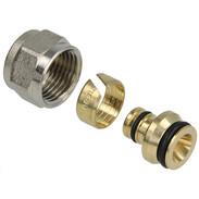 "Compression fitting brass 16 mm x 1/2"" IT euro cone"