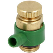 """Drain valve with O-ring, 1/4"""" brass"""