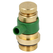 """Drain valve with O-ring, 3/8"""" brass"""