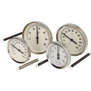 Bi-metal contact thermometer