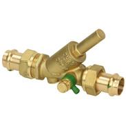 Non-return check valve with drain press connection Viega 15 mm