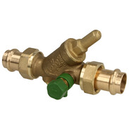Non-return check valve with drain press connection Viega 22 mm