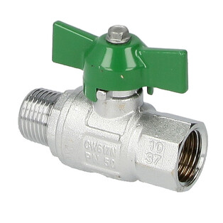 """Ball valve 1/2"""" IT x 1/2"""" ET with wing handle"""