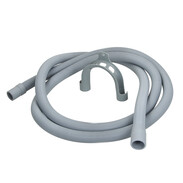 "Plastic drain hose for washing machines 3,500 mm x 3/4"" with hose holder"
