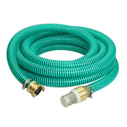 """Suction hose set 1"""" with stainless steel foot valve and brass quick coupling"""