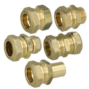 Corrugated solar pipe screw fitting