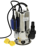 Submersible pump for wastewater stainless steel 750 W with float switch