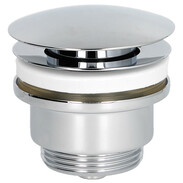 "Design drain valve 1 1/4"" plug with pressure cap chrome"