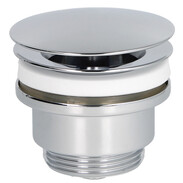 "Design drain valve 1 1/4"" chrome rigid plug"