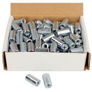 Threaded sleeves, zinc-coated M6 x 20 mm