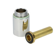 """Valve meter fitting connector piece 3/4"""" x 40 mm"""
