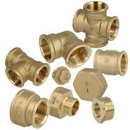Threaded fittings brass bright