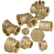 Threaded fittings brass bright